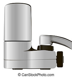 Faucet Water Filter System - Household faucet with...