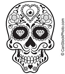 Skull - Vector illustration of Skull - Outline