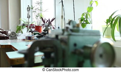 Workshop for repairing clothes in laundry - View of workshop...