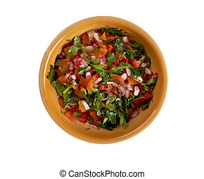 Pico de gallo - In Mexican cuisine.also called salsa...