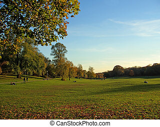 Prospect Park, Brooklyn, New York - People relaxing in...