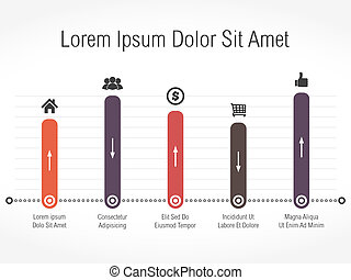 Bar Graph - Bar graph template, vector eps10 illustration