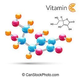 Vitamin C molecule - Vitamin C 3d molecule chemical science...