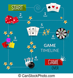 Game process illustration - Game process sport and gambling...