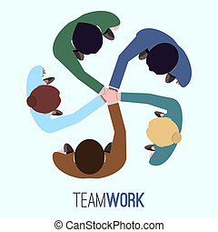 Business team concept - Business team teamwork concept top...