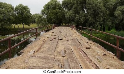 old wooden bridge - More old wooden bridge over the river...