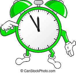 time is running out fast - vector illustration of a alarm...