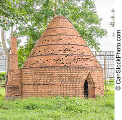 brick oven - old traditional brick oven in the garden