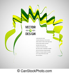 Abstract Line Vector Background. Waving Ribbon Banner