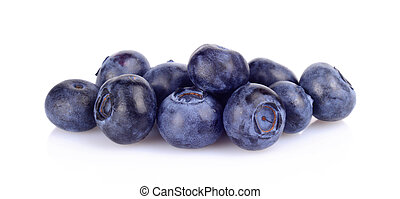 Assortment of fresh blueberries isolated white - Studio shot...