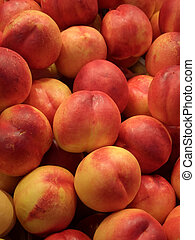 Peaches - Many peaches on display