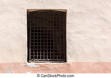 Window with lattice in old wall