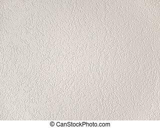 Plaster background - White rough grainy plaster background