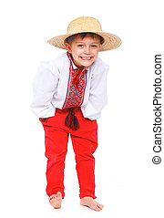 Boy in the national Ukrainian costume