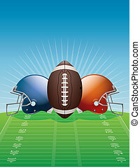 American Football Background Illustration - An illustration...