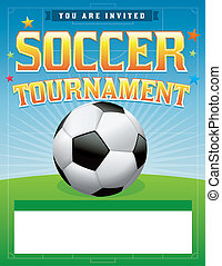 Soccer Football Tournament Illustration - A soccer...