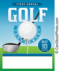 Golf Tournament Illustration - An illustration for a golf...