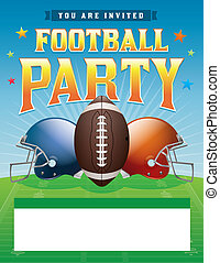 Football Party Illustration - American football party...
