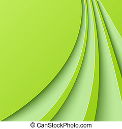 Abstract green background with curved lines. Vector...