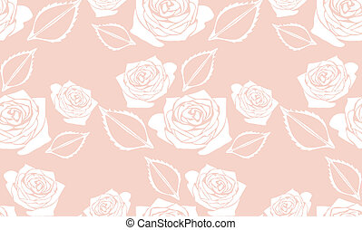 Seamless pink background with roses