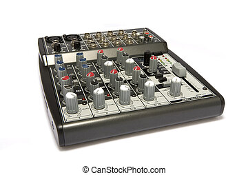 Professional Audio / Disk Jockey / Karaoke Mixer Closeup - A...