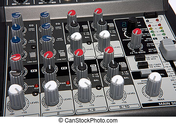 Professional Audio Disk Jockey Karaoke Mixer Closeup - A...