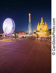 Amusement Park and Temple at Tibidabo, Barcelona, Spain