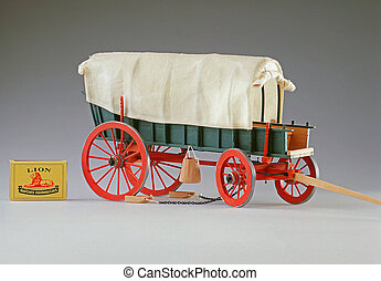 Ox-drawn wagon scale model - Accurate scale model of...