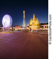 Amusement Park and Temple at Tibidabo