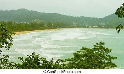 Thailand, Kamala beach. The rainy season, cloudy. No...