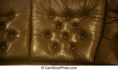 Leather upholstery of old classic furniture