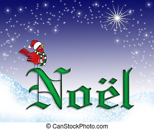 Noel Christmas card background - illustration composition...