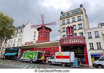 Paris - PARIS - AUGUST 8: The Moulin Rouge on August 8, 2014...