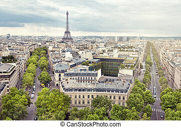 Paris - Panoramic view of Paris from the Arc de Triomphe