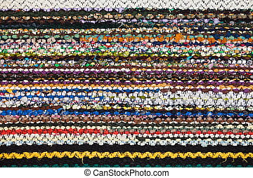 Picture of Bulgarian hand-made rag-carpets, different...