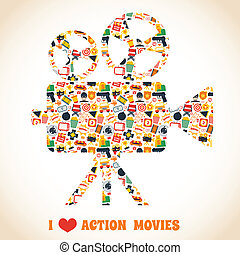 Action movie camera - Action movie premiere cinema...