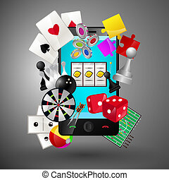 Mobile games concept - Leisure video sport and gambling...