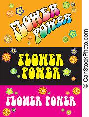 Flower Power Lettering - Three variations Flower Power...