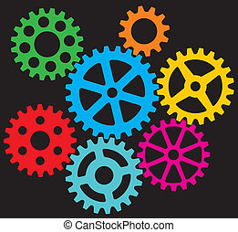 growing gears, cogs in process