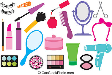 make up collection, beauty and makeup set, cosmetics set,...