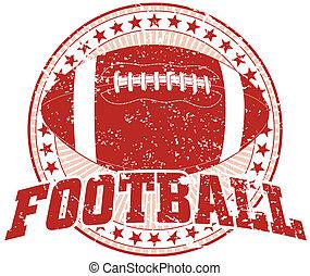 Football Design - Vintage - Illustration of a Football...