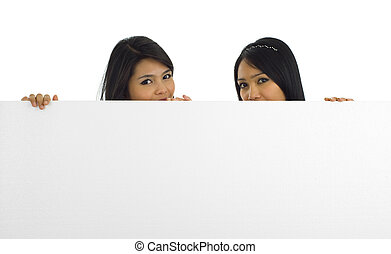 women with a white board