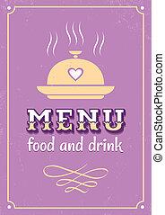 menu in western style