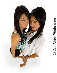 pretty asians - beautiful, young asian women photographed...