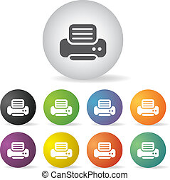 printer icon set