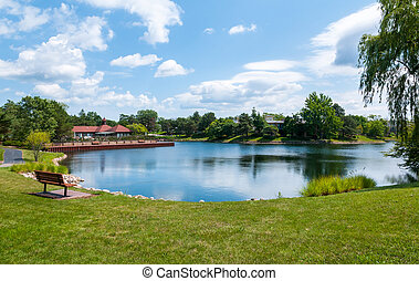 Subdivision of Northbrook - View of the lake in the...