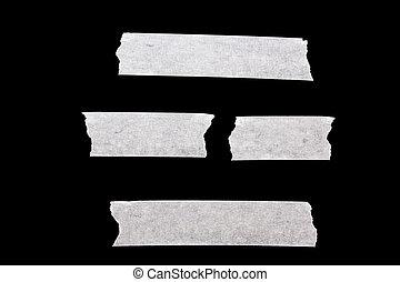 Masking tape isolated on black background