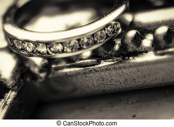 Close shot of wedding ring