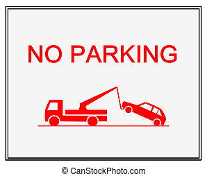 No parking   - Traffic sign - no parking