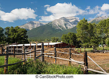 Farmyard and stable by Mt Princeton CO - Farmyard and...
